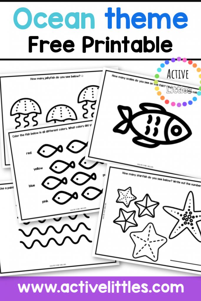 ocean themed free printable for kids