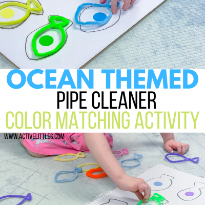 ocean themed pipe cleaner activity