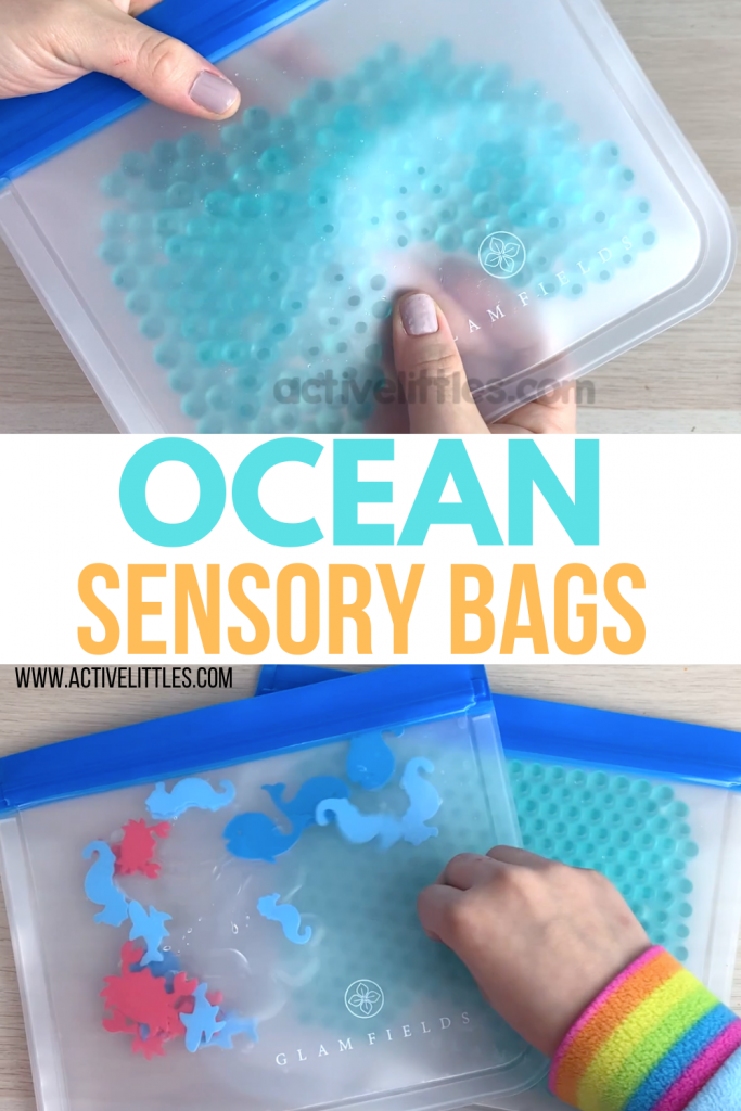 ocean themed sensory bag preschool
