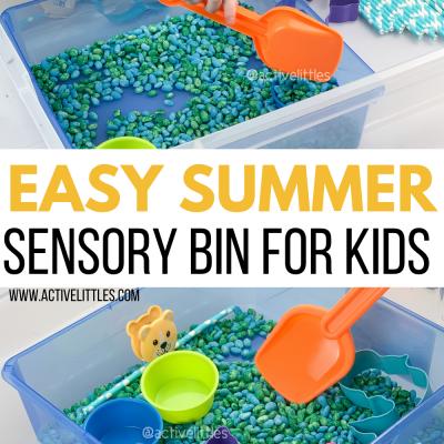 ocean themed sensory bin for kids