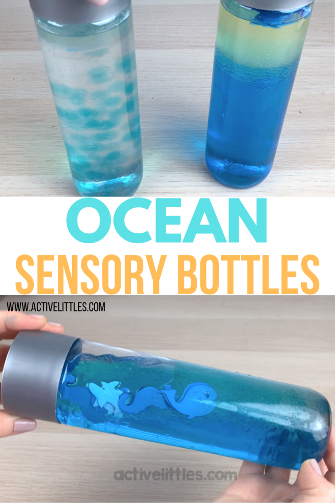 ocean themed sensory bottles