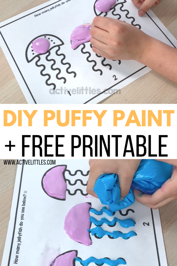 diy puffy paint diy for kids