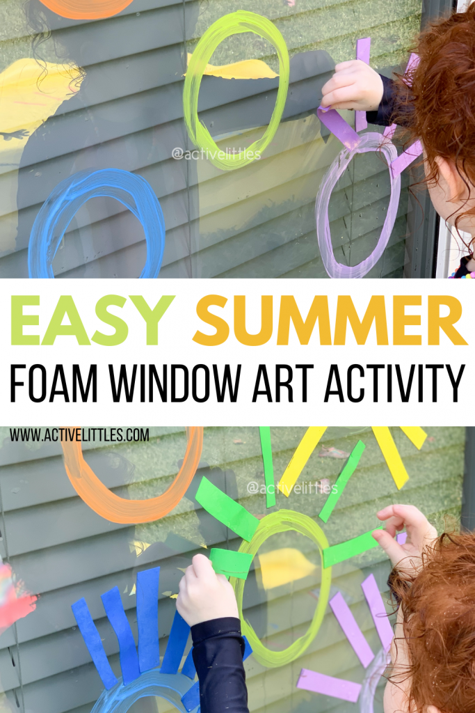 simple foam window art for kids