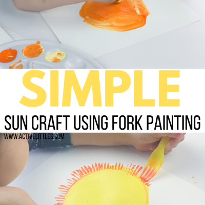 simple sun fork painting for kids