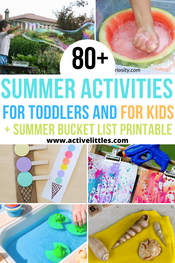 summer activities for toddlers and for kids