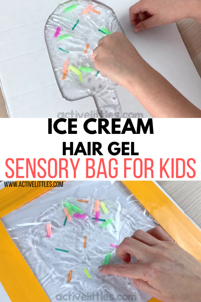 Ice Cream Hair Gel Sensory Bag