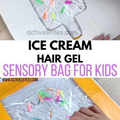 Ice Cream Hair Gel Sensory Bag for Kids