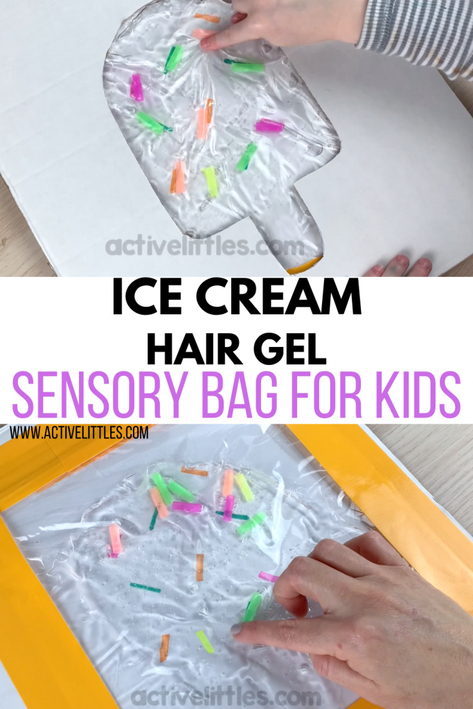Ice Cream Hair Gel Sensory Bag for Kids