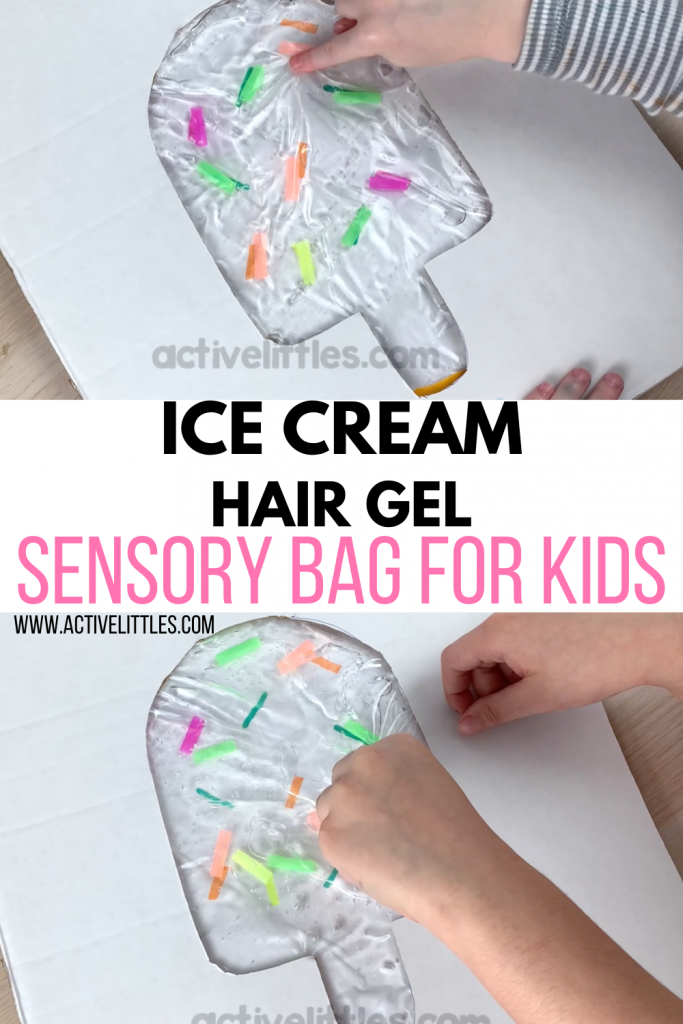 Ice Cream hair gel sensory play