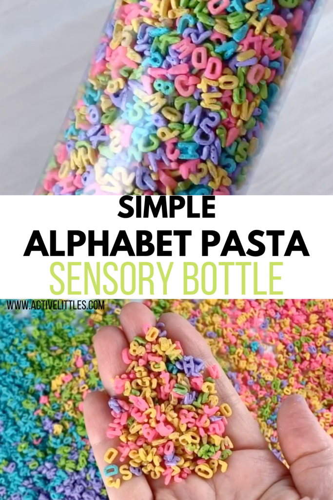alphabet sensory bottle for kids