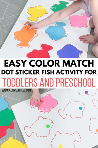 Easy Color Match Fish Activity for Toddlers and Preschoolers