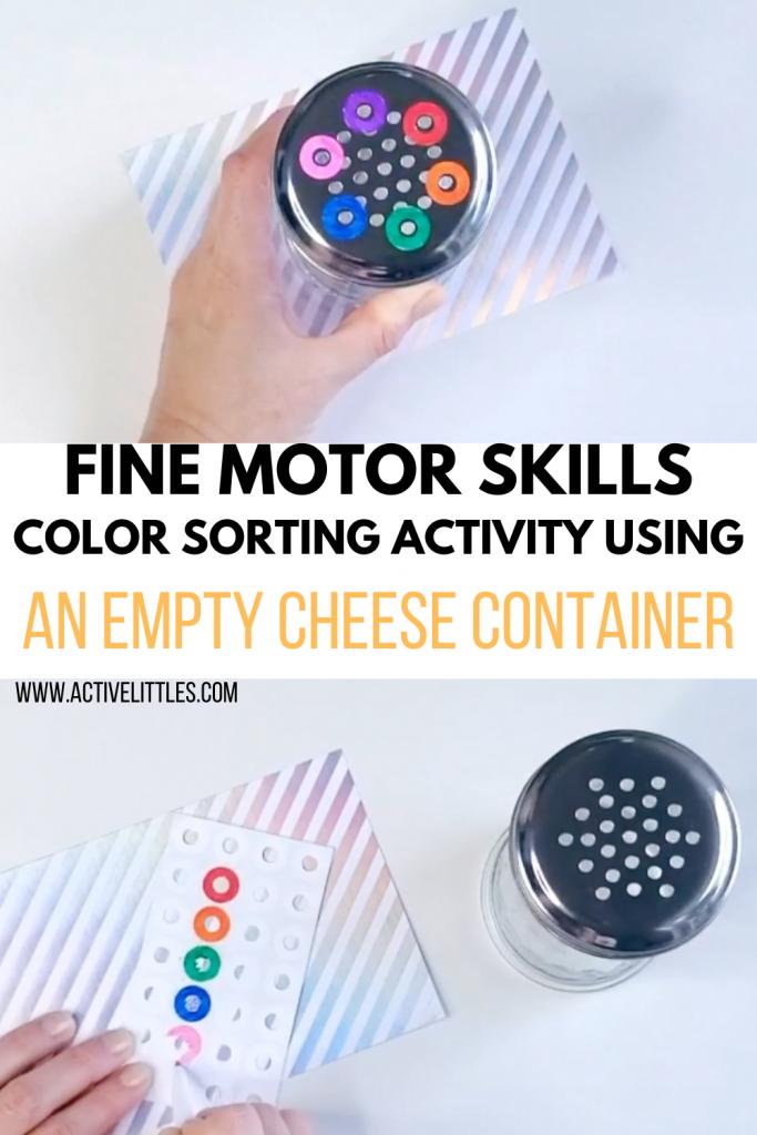 fine motor skills color sorting activity