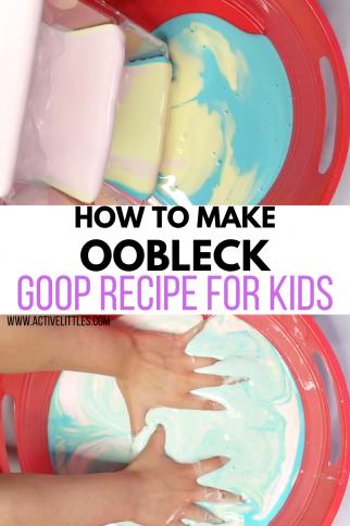 How to make Oobleck (Goop) | Easy 2 Ingredient Recipe DIY