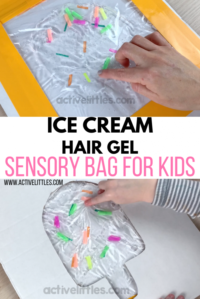 ice cream hair gel sensory bag for toddlers