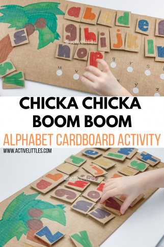 DIY Chicka Chicka Boom Boom Alphabet Activities for Toddlers