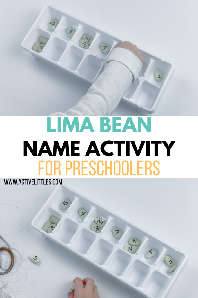lima bean alphabet matching activity for kids