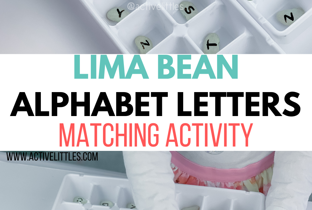 Lima Bean Alphabet Letters Matching Activity