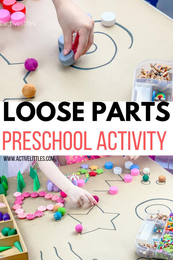 loose parts play preschool activity