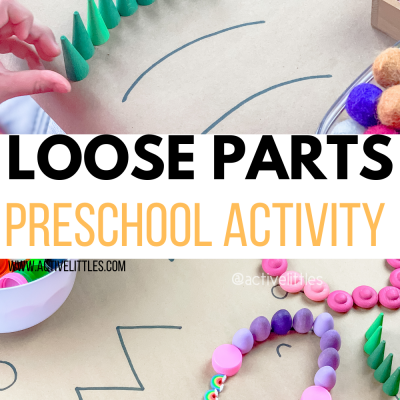 loose parts preschool activity