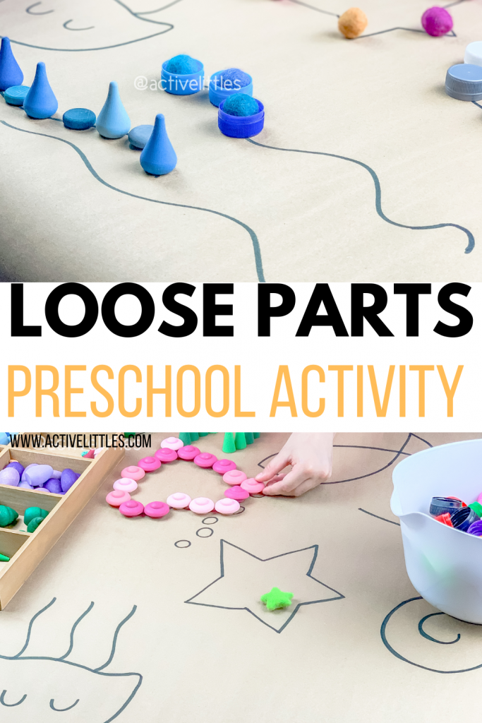 loose parts preschool activity for kids