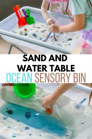 Sand and Water Table Ocean Sensory Bin