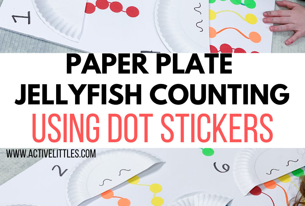 Paper Plate Jellyfish Counting using Dot Stickers Kids Activity