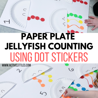 paper plate jellyfish counting using dot stickers