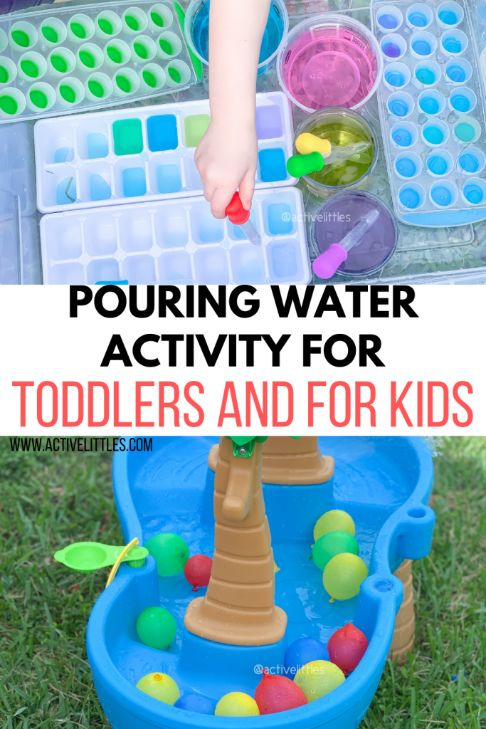 pouring water activities for toddlers and kids