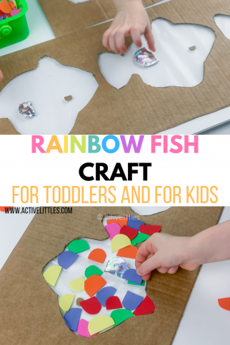 Rainbow Fish Craft for Toddlers and for Kids