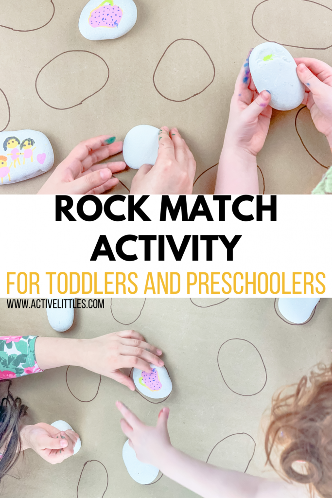 rock matching activity for kids
