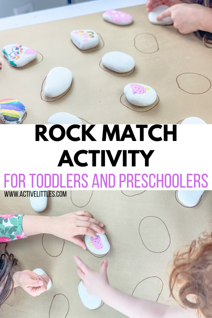 rock matching activity for toddlers
