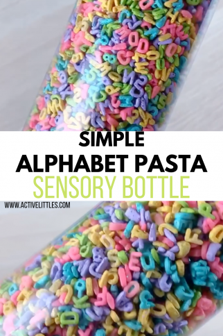 Simple Alphabet Pasta Sensory Bottle