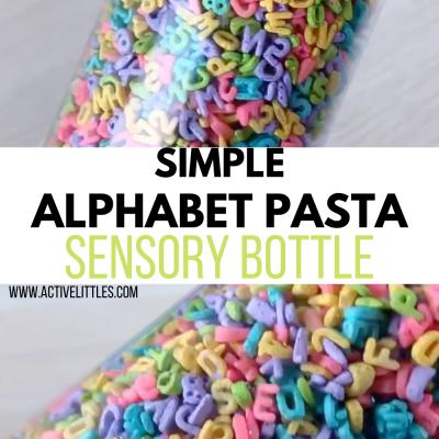 simple alphabet sensory bottle for kids
