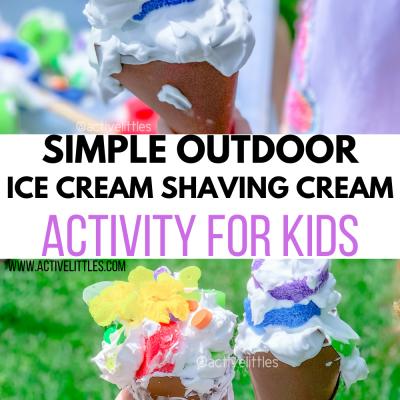 simple ice cream shaving cream activity for kids