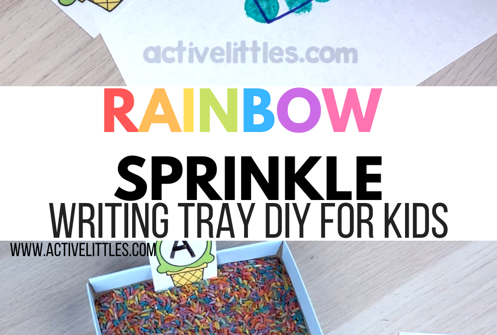 Rainbow Sprinkle Letter Writing Tray DIY