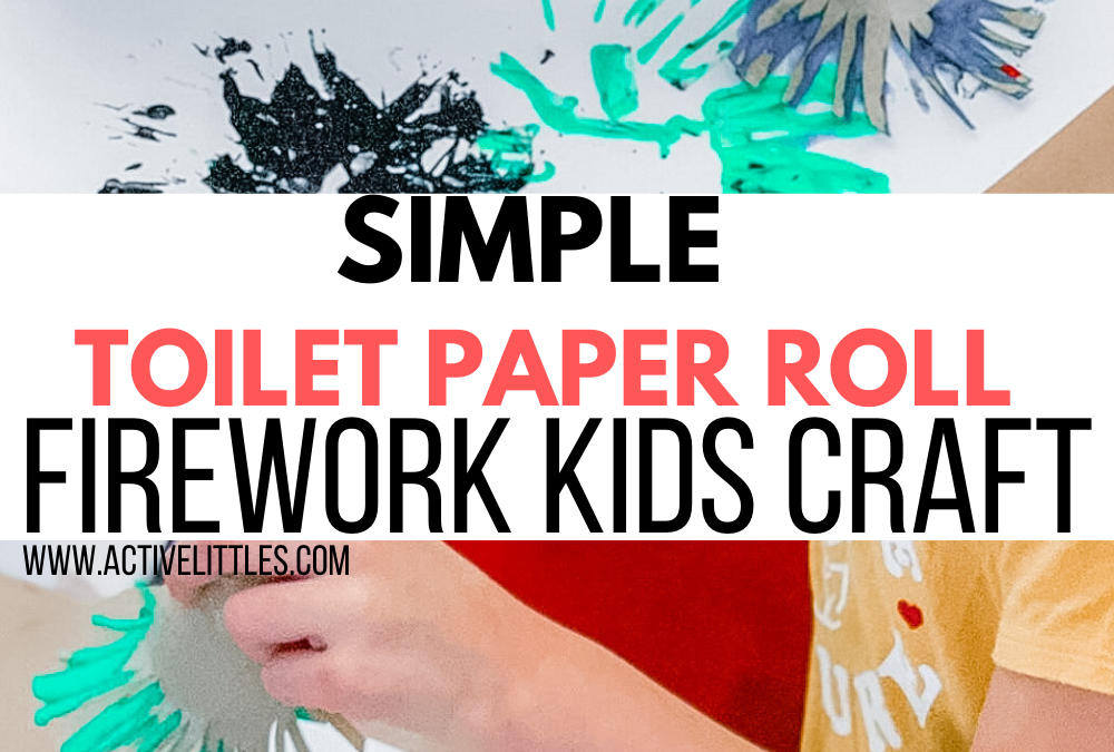 Simple Toilet Paper Roll Firework Craft
