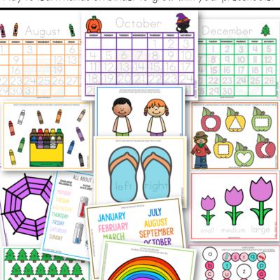 Early Years Seasonal Basic Skills Learning Binder - Preschool - Active Littles