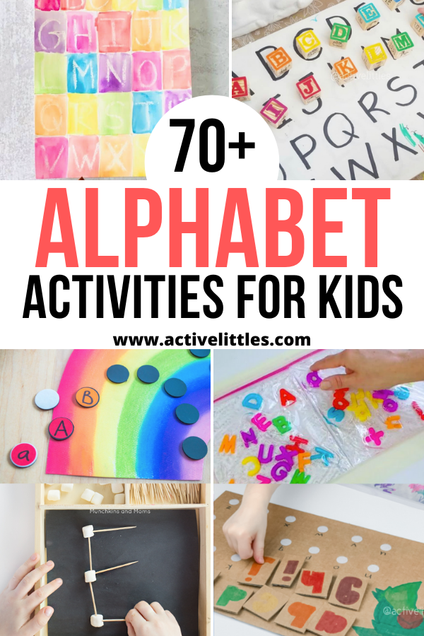 70+ Alphabet Activities For Toddlers, Preschool And Kindergarten - Active  Littles