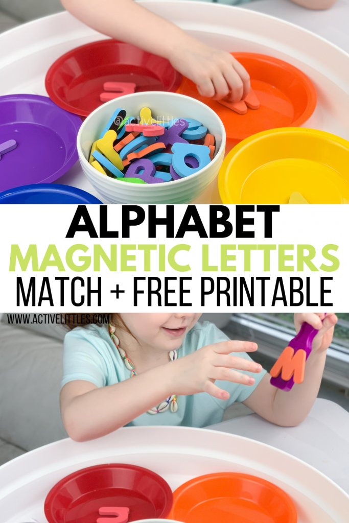 alphabet magnet letter match and free printable