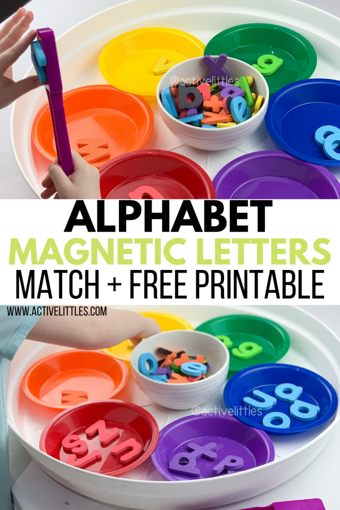 alphabet magnet letters match and free printable