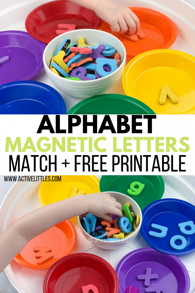 alphabet magnetic letters match and free printable