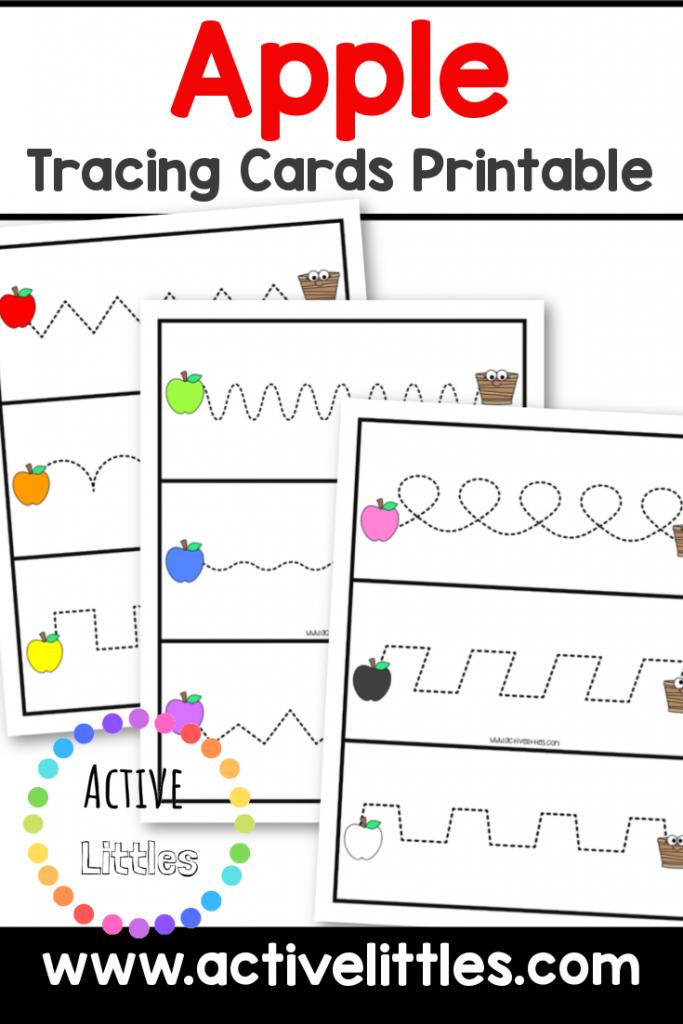apple tracing cards printable