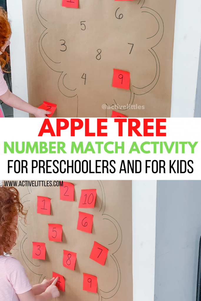 apple tree counting activity for kids