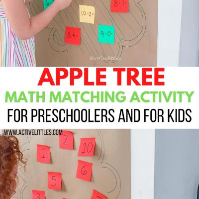 apple tree math activity for kids