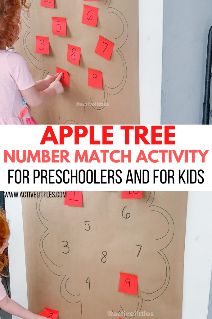apple tree math matching activity for preschoolers and for kids