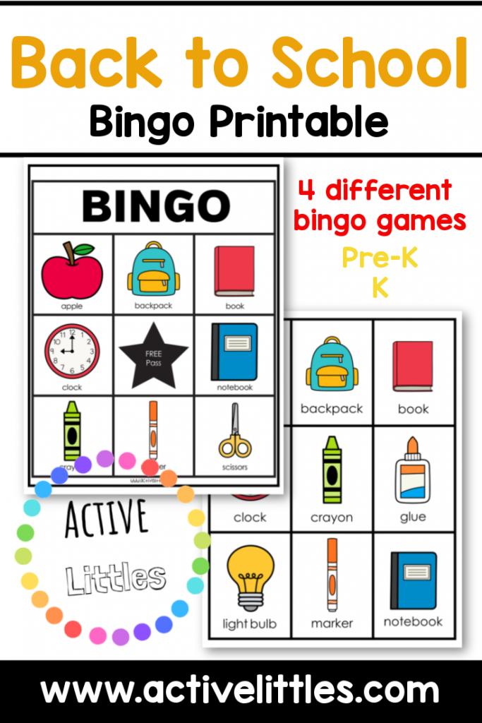 back to school bingo printable