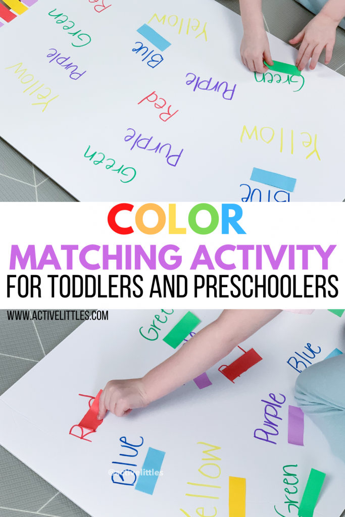 color matching activity for kids