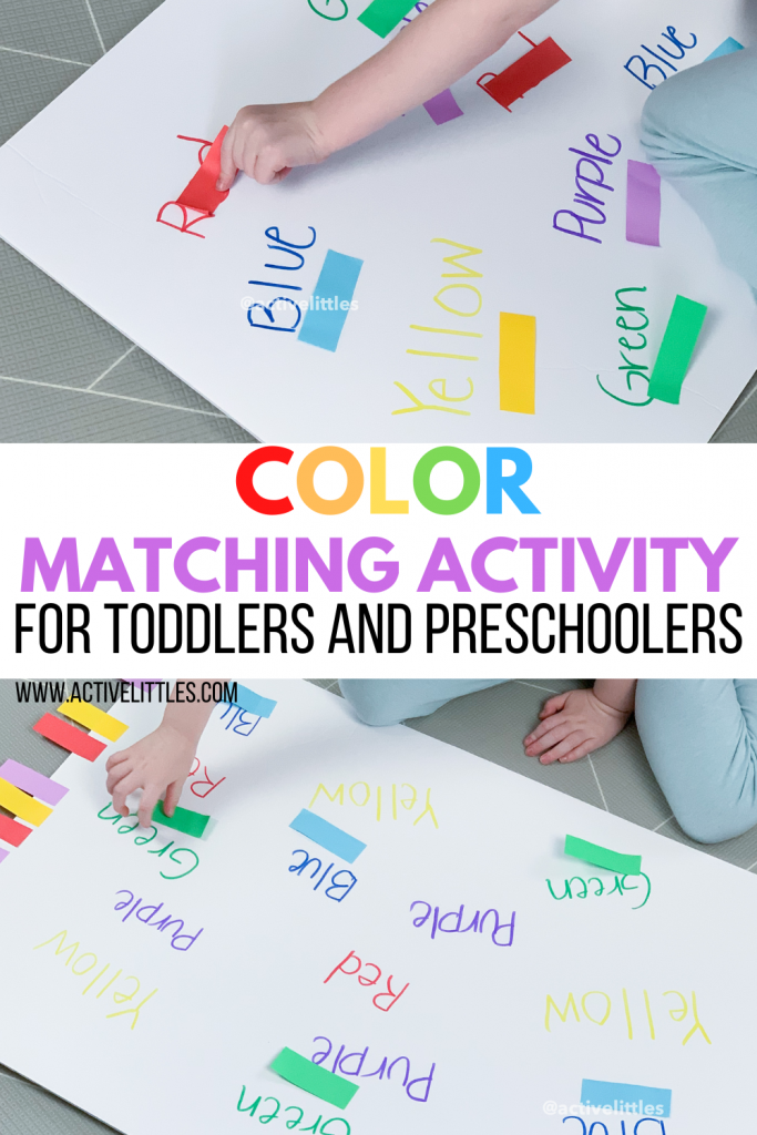 color matching activity for toddlers and preschoolers