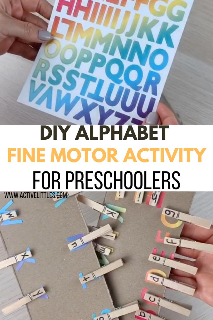 diy alphabet fine motor activities for preschool