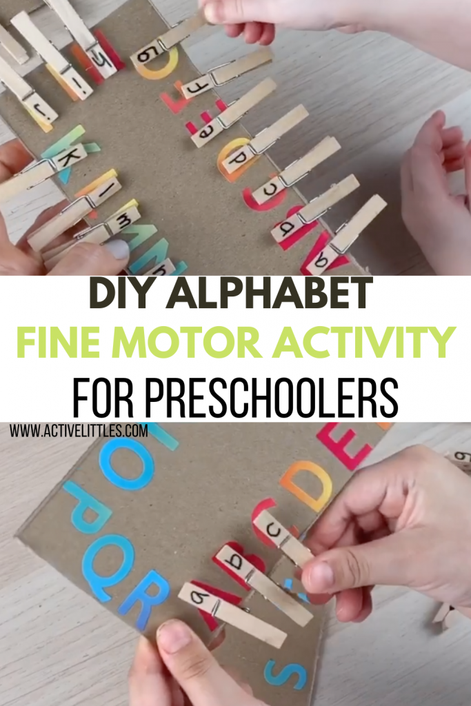 diy alphabet fine motor activity for toddlers and preschool